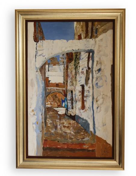 Roads in Rhodes, 94x56cm, by John Corbidge (1935-2003)