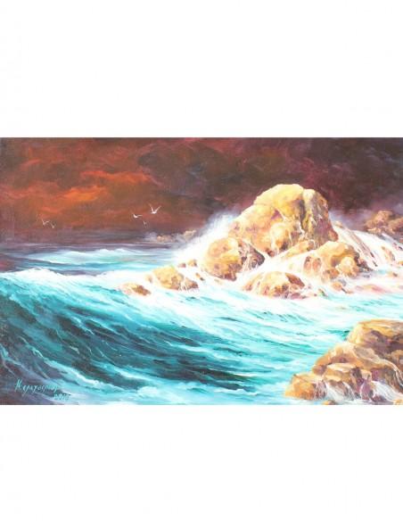 The Rock & the Wave I by Kostas Eleftheriou (Ο Βράχος & Το Κύμα Ι)