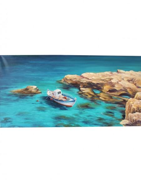 Lonely Fish Boat I by Kostas Eleftheriou (Μοναχικό Ψαροκάικο Ι)