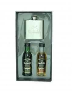 Glenfiddich Miniature Selection 2x5cl - Including Hip Flask