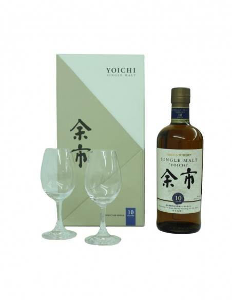 Nikka Yoichi 10 Year Old Gift Set With Glasses