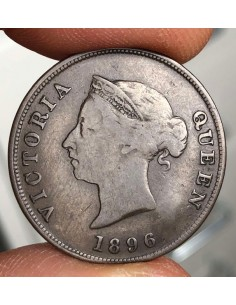 Cyprus Coin 1/2 Piastre 1896 Queen Victoria (Rarest of the 1/2 Very Low Mintage)