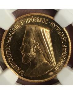 Cyprus Gold Proof Sovereign Archbishop Makarios III 1966