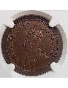 Cyprus One Piastre 1931 King George V Rex Imperator