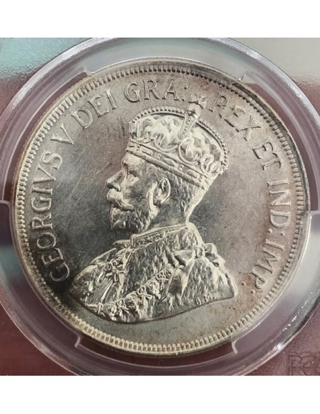 Cyprus Silver 45 Piastres 1928 King George V