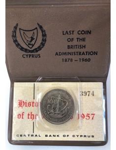 Cyprus 100 Mils 1957 Queen Elizabeth II