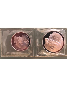 Cyprus 500 Mils Silver Proof Coins Set 1976