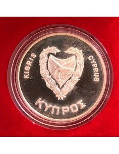 Cyprus 500 Mils Silver Proof Coin 1981