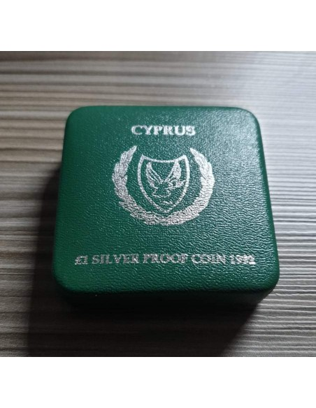 Cyprus 1 Pound Silver Proof Coin 1992 - Barcelona Olympic Games