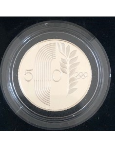 Cyprus 50 cents Silver Proof Coin 1988 - Seoul Olympic Games