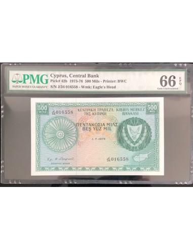 Cyprus Banknote 500 Mils 1975
