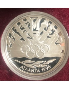 Cyprus 1 Pound Silver Proof Coin 1996 Atlanta Olympic Games