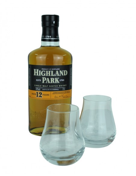 Highland Park 12 Year Old with Glasses Set