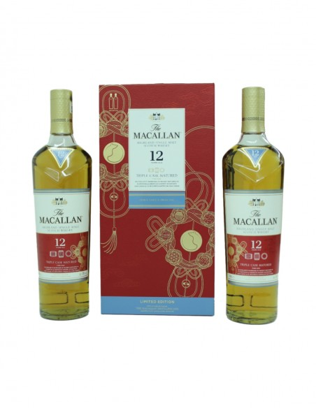 Macallan 12 Year Old Triple Cask - Year of the Rat (2 X 70CL)