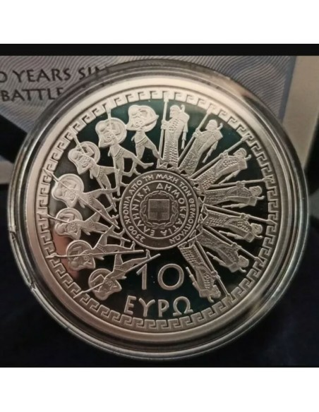 Greece 10 Euro Silver Proof - The Battle of Thermopylae / 2020