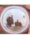 Australian 2 Oz Silver 2 Dollars / Year of the Rabbit 2011