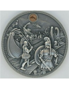 Niue Island 5 Dollars The Battle of Salamis 2019 / 2 Oz Silver Proof Coin