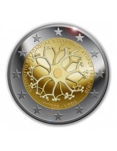 Cyprus 2 Euro Proof Coin 2020 Institute of Neurology and Genetics