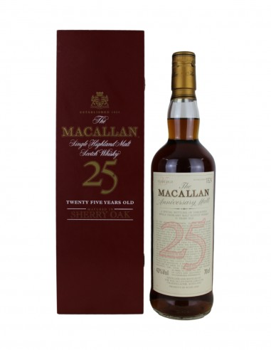 Macallan 25 Year Old Sherry Oak - Anniversary